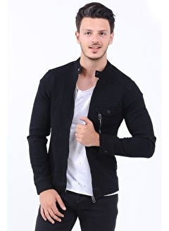 LTC Jeans Cep Fermuar Koyu Lacivert Erkek Kot Ceket